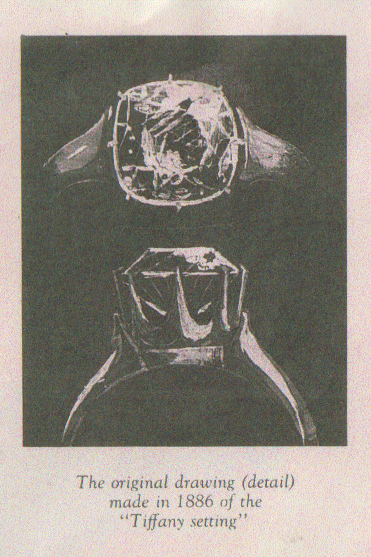 the sketch of the original Tiffany setting