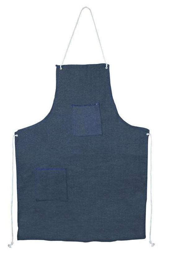 A denim work apron