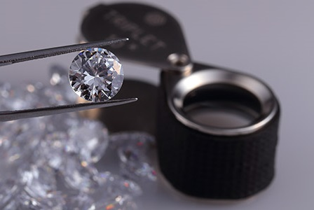 Diamonds and a loupe