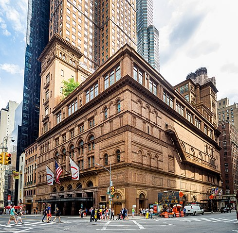 the outside of Carnegie Hall
