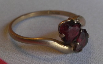 A garnet ring that came in for sizing